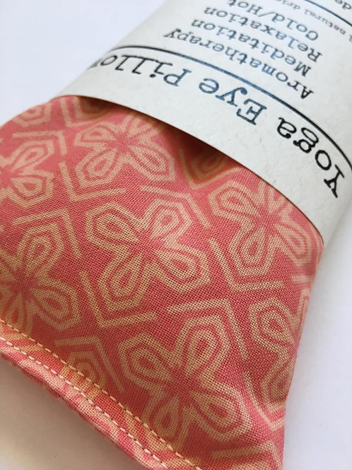 Lavender Scented Weighted Eye Pillow in Pinwheel Print
