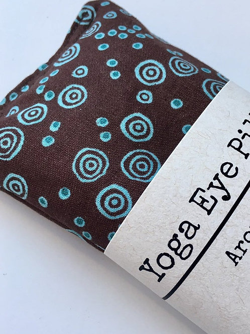 Aqua & Brown Weighted Eye Pillow