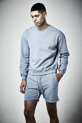 Mens unisex Fleece Crew neck  sweater- Pigment wash - 8 - 10 weeks to complete