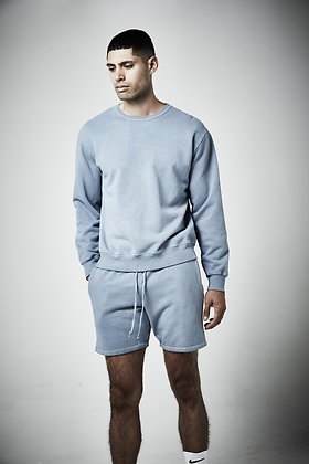 Men's unisex French terry shorts - Pigment wash - 8 - 10 weeks to complete