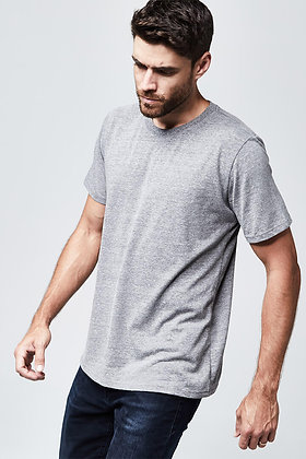 Organic Crew Neck T-Shirt - Heather Grey