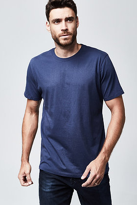 Organic Crew Neck T-Shirt - Navy