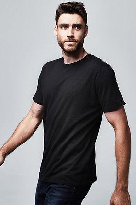 Organic Crew Neck T-Shirt - Faded Black