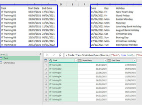 Calculate Net Working Days Using Power Query.