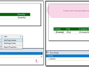 SSRS: Report Name and Headers on Each Page