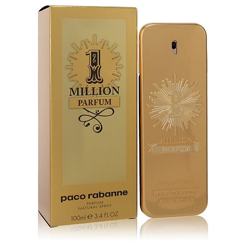 1 Million Parfum by Paco Rabanne 3.4 oz Parfum Spray for men