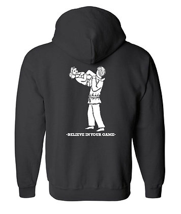 "Adult Jiu-Jitsu Hoodie ""Believe in your game"" Armbar special"