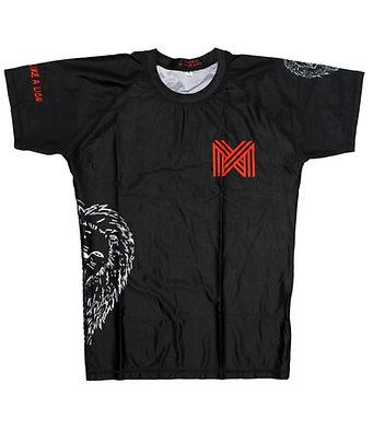 Rash Guard Short-sleeve BJJ/MMA - Adults - 'Dominate like a lion'