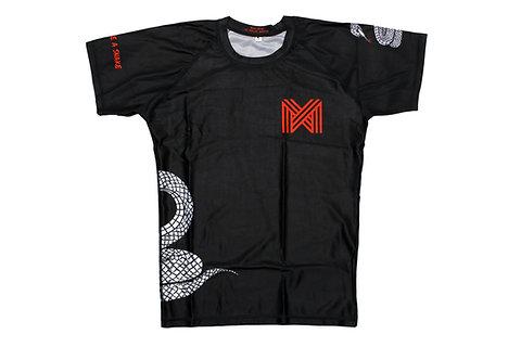 Rash Guard Short-sleeve BJJ/MMA - Adults - 'Choke like a snake'