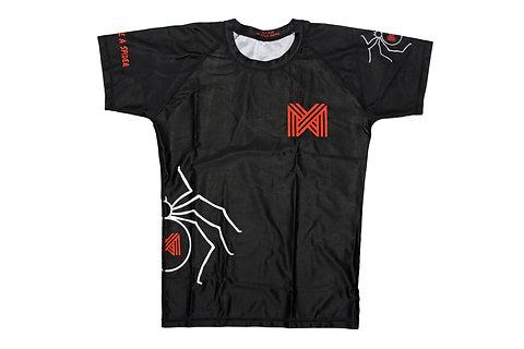 Rash Guard Short-sleeve BJJ/MMA - Adults - 'Attack like a spider'