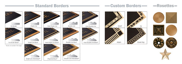 Cast Plaques Borders &Rosettes