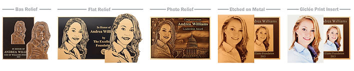 Bas Relief, Photo Relief, Flat Relief, Etched Portrait on Metal, Glicée Print on Insert