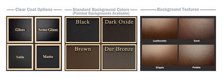 Cast Plaques Clearcoat, Textures, Colors