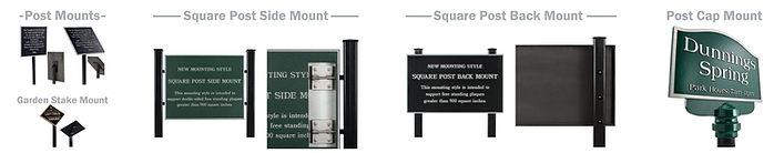 Cast Plaques Post Mount, Garden Stake Mount,Square Post Back Mount, Post Cap Mount