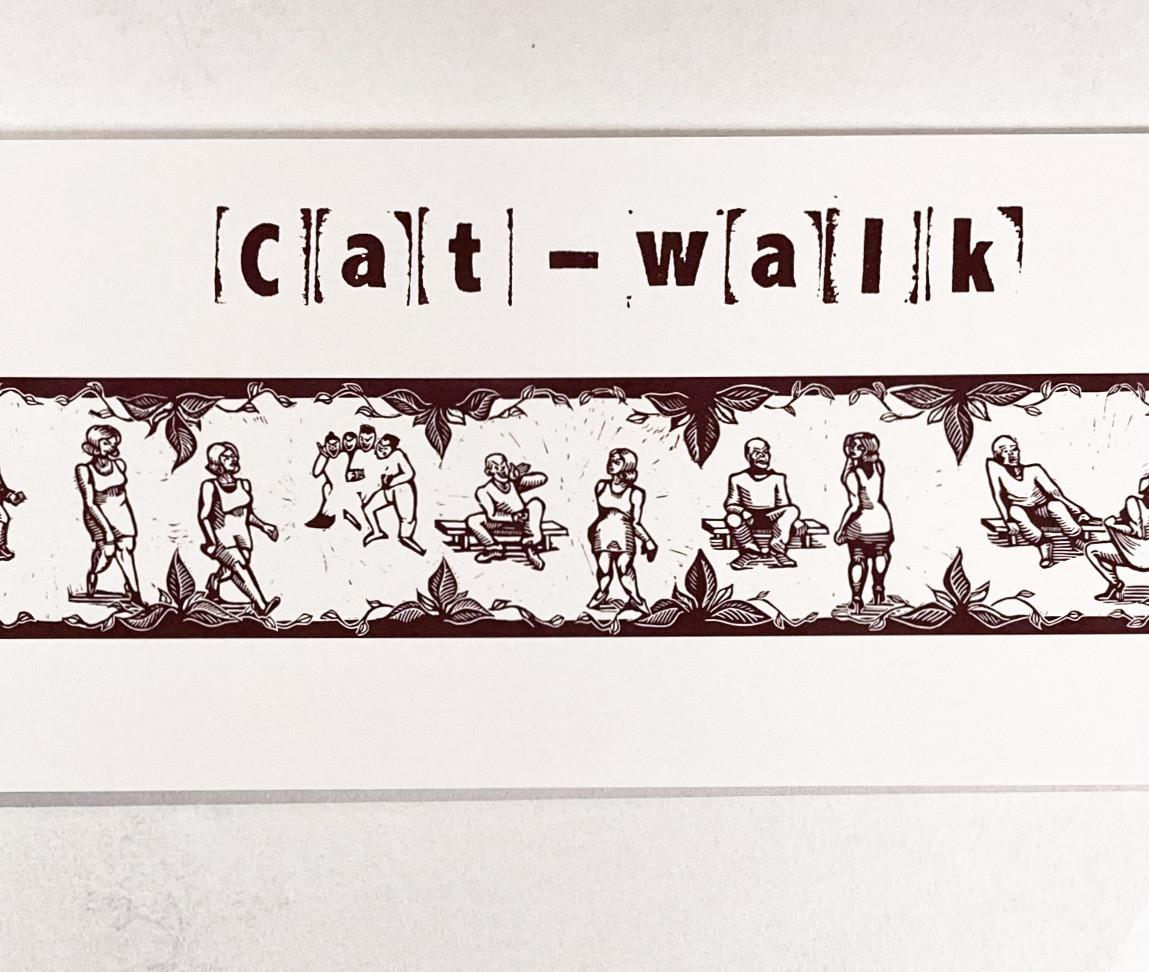 """Grafiskt tryck """"Cat-walk"""""""