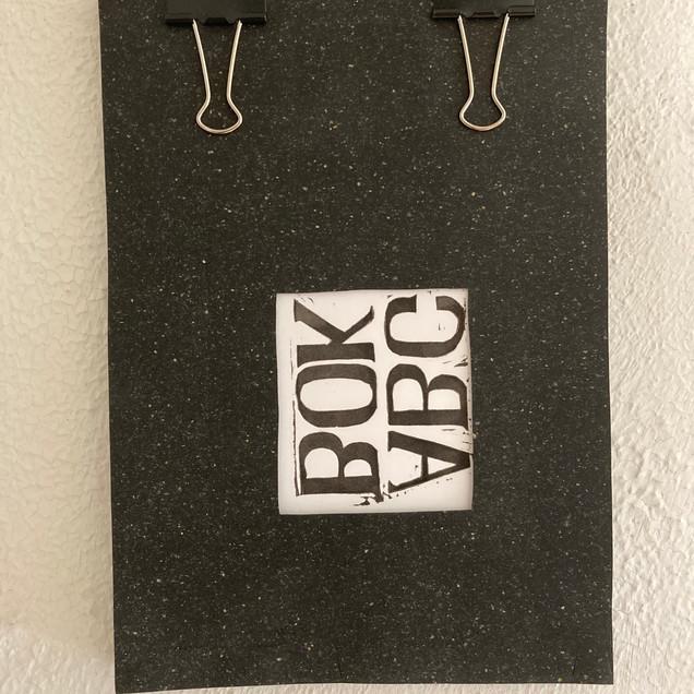 ABC-boken, handtryckt