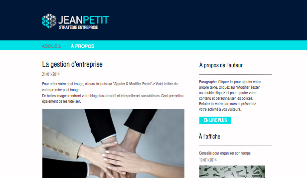 Blogs et forums website templates – Blog Entreprises
