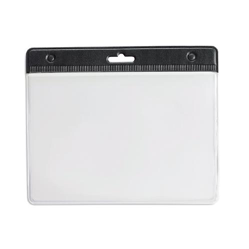 Porte Badge PVC 95 x 110 mm Noir