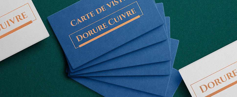 Carte de visite - Dorure Cuivre