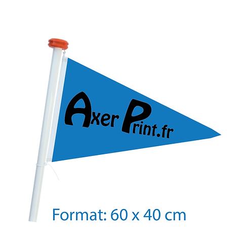 Drapeau Triangle / Bateau Format 60 x 40 cm