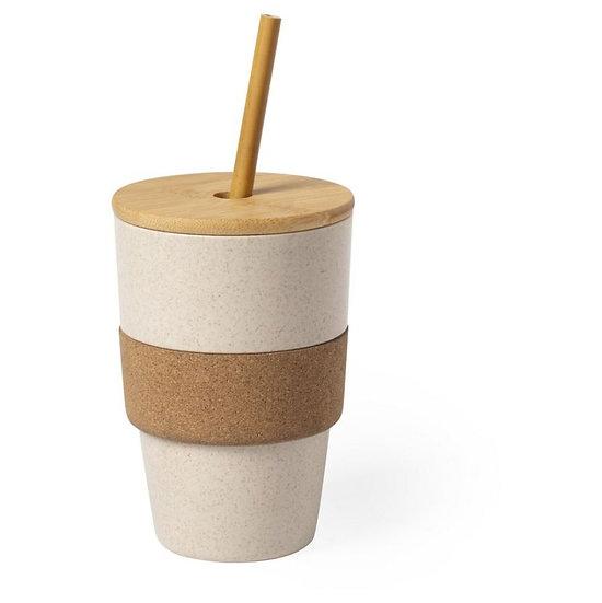 Mug avec paille 450ml E4