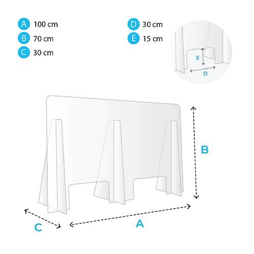 Protection pour comptoir 100x70cm
