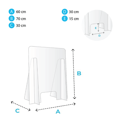 Protection pour comptoir 60x70cm