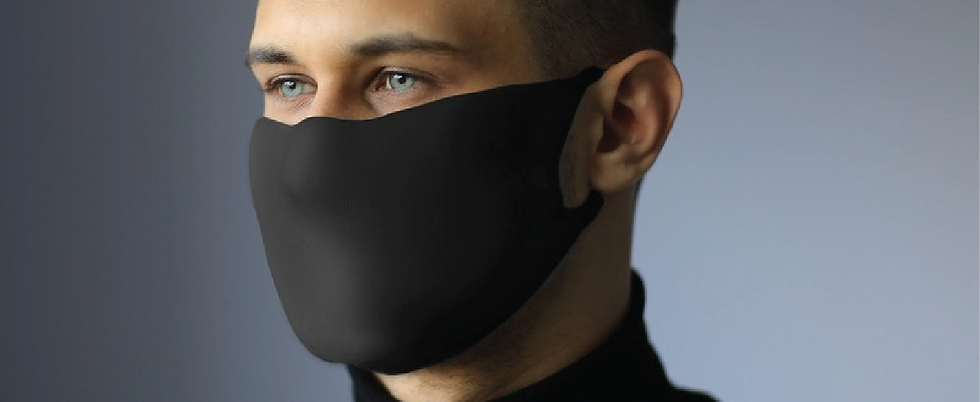 Masque Pro+ de protection en tissu Noir