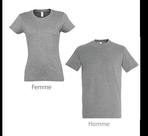 T-shirt Premium Gris Chiné