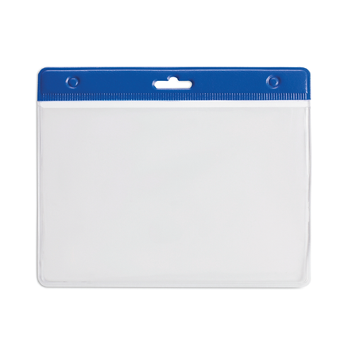 Porte Badge PVC 95 x 110 mm Bleu
