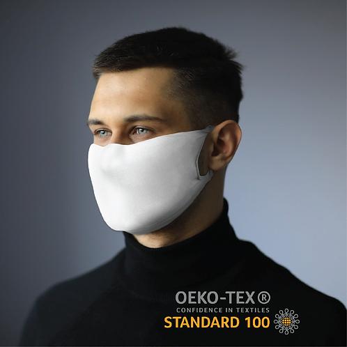 Masque Pro+ de protection en tissu Blanc