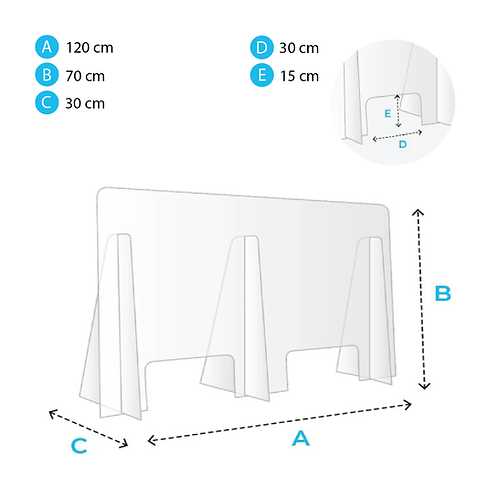 Protection pour comptoir 120x70cm
