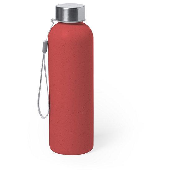 Bouteille de sport rouge 600 ml avec poignée