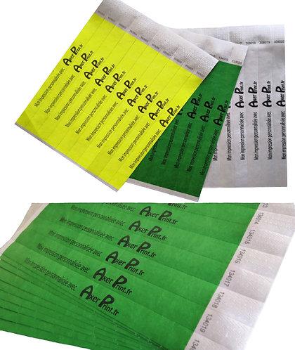 Bracelet d'identification personnalisable monochrome