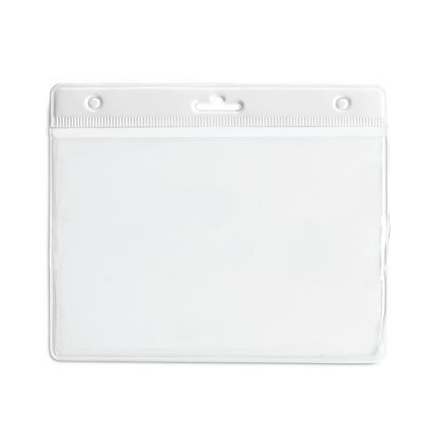 Porte Badge PVC 95 x 110 mm Blanc