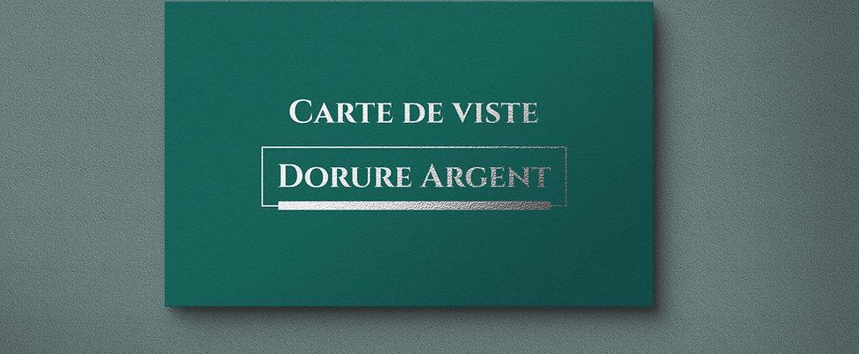 Carte de visite - Dorure Argent