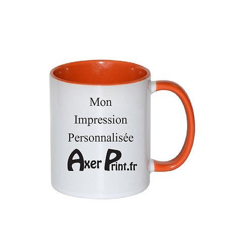 Mug Orange Bicolore Personnalisable