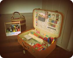 Suitcase full of art