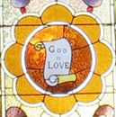 """""""God is Love"""" stained glass window"""