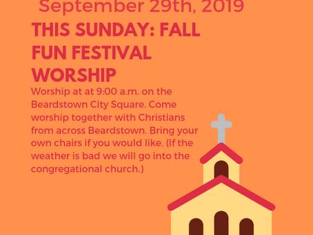 Worship At the Fall Fun Festival