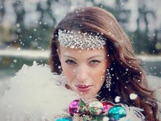 Winter Wonderland Bridal Shoot For Super Duper Wedding Events