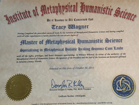 Masters Degree-IMHS-Metaphysical Science and Holistic Healing