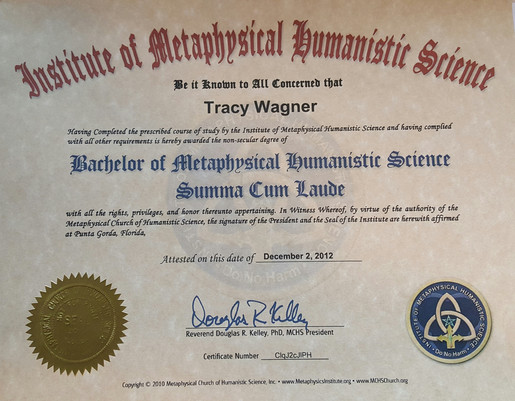 Bachelor of MHS - Summa Cum Laude