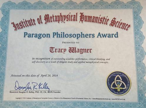 Paragon Philosophers Award-IMHS