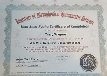 Usui Shiki Ryoho Reiki III Master-Teacher