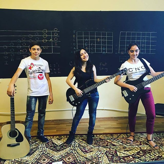 Our students love playing bass!