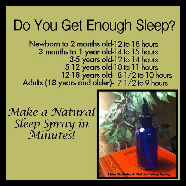 How To Make A Natural Sleep Spray