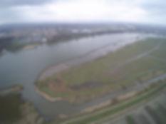 Deze foto is genomen vanaf 187 meter: de hoogte van de gelande windturbines