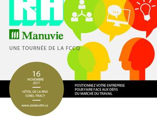 Tournée RH Manuvie présenté par la FCCQ en collaboration avec la CCIST!