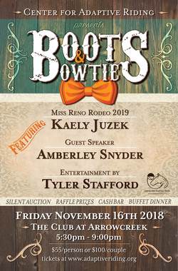 BOOTS & BOWTIES POSTER/LOGO